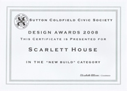 Design award for new build apartments in Sutton Coldfield